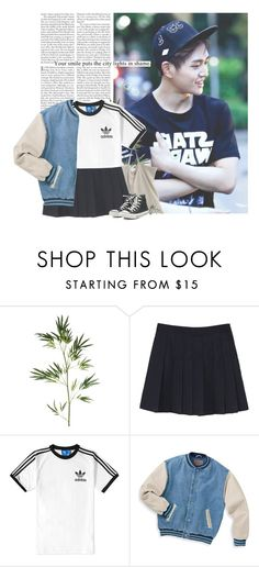 """""""Onew: your smile puts the city lights in shame"""" by yxing ❤ liked on Polyvore featuring Edition, Pier 1 Imports, adidas, Converse, kpop, shinee and onew"""