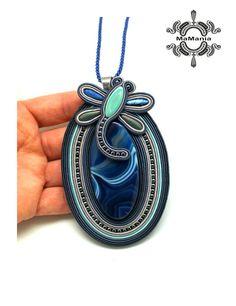 Soutache Pendant, Soutache Earrings, Shibori, Desi, Washer Necklace, Ribbon, Pendants, Brooch, Beads