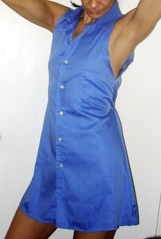 Mens Shirt To Simple Dress  •  Make a button-up dress in under 60 minutes
