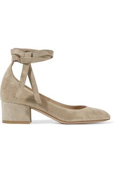 Gianvito Rossi - Suede Pumps - Beige - IT