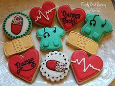 Nurse/Medical Themed Decorated Sugar Cookies by TwirlyBirdGifts