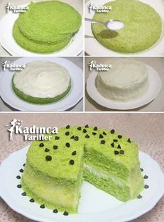 Practical Spinach Cake Recipe, How to Make - Dessert Recipes Delicious Cake Recipes, Easy Cake Recipes, Pie Recipes, Yummy Cakes, Dessert Recipes, Spinach Cake, Icebox Desserts, Turkish Recipes, Cheesecake Recipes