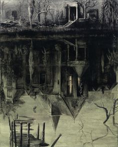 The Spectral House by Santiago Caruso