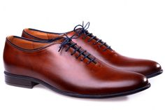 Brown leather men shoes!