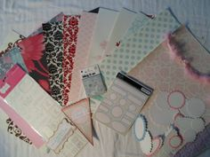 Lovely Flocked Lush Scrapbooking Kit 49 by ScrapChicKits on Etsy, $12.99 plss