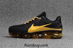 new styles 6d33e 08d08 New Style Nike Air VaporMax 2018 KPU Black Golden Men Shoes Sneakers Nike, Nike  Löpning