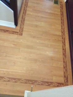 Karndean Italian Beech withe Bamboo Decor borders and corner pieces Karndean Flooring, Paint Colours, Kitchen Flooring, Remodeling, Hardwood Floors, Bamboo, Corner, Lounge, Decor