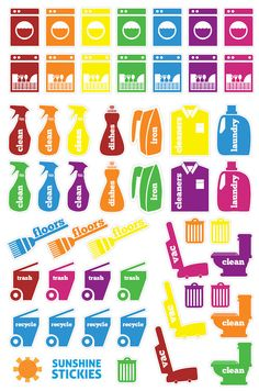 50 Cleaning & Laundry Planner Stickers || Great for Erin Condren, Plum Planner or Filofax!