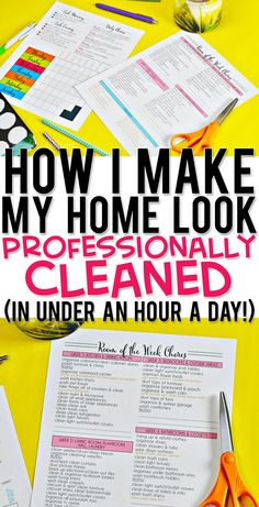 cleaning schedule for working mom Find great tips for making your home look professionally cleaned. includes a free printable daily and weekly cleaning schedule! This easy system is for a working mom or stay at home mom. House Cleaning Checklist, Household Cleaning Tips, Deep Cleaning Tips, Cleaning Recipes, Diy Cleaning Products, Cleaning Solutions, Cleaning Hacks, Daily Cleaning Schedules, Weekly Cleaning Schedule Printable
