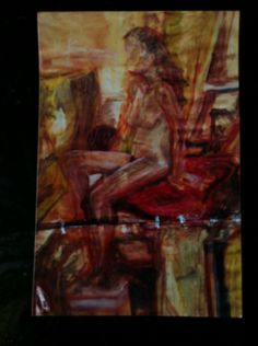 Quick life painting by Zoe Bailey....art college 90s