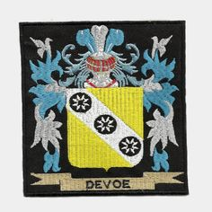 McBRIDE Family PATCH Heraldic Coat of Arms Embroidered Badge Crest