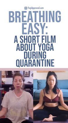 Breathing Easy: Short Film About Yoga During Quarantine | YogiApproved Inspirational Leaders, Investment Tips, Yoga Photos, Yoga Nidra, Breathe Easy, Online Yoga, Easy Video, Pranayama, Yoga Lifestyle
