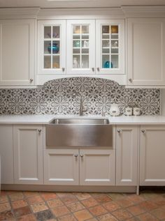 French Country Santa Fe, NM - farmhouse - Kitchen - Albuquerque - STATEMENTS IN Tile/Lighting/Kitchens/Flooring