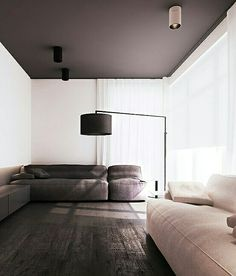 Black Ceiling Grey Paint Dark Colored Floor