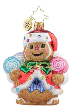 Christopher+Radko+'Ginger+Sweet+Claus'+Gingerbread+Man+Santa+Claus+Ornament+available+at+#Nordstrom