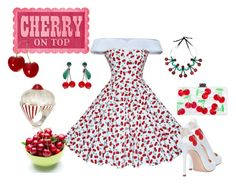 """Cherry on top Contest"" by barebear1965 ❤ liked on Polyvore featuring Camilla Elphick, Marina Calamai and Jennifer Loiselle"