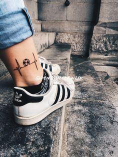 #tattoos #heartbeat #soccer #soccergirl #tattoodesigns #netherlands -> @dena_uiterwijk Forearm Tattoo Men, Leg Tattoos, Arm Band Tattoo, Body Art Tattoos, Small Tattoos, Sleeve Tattoos, Cool Tattoos, Tatoos, Soccer Tattoos