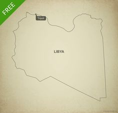 Free Vector Map Of Israel Outline Israel And Outlines - Libya blank map