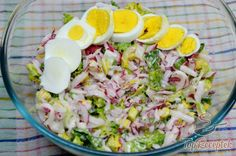 Reteksaláta majonézes-joghurtos öntettel | TopReceptek.hu Breakfast Nook, Desert Recipes, Low Carb Recipes, Cobb Salad, Salad Recipes, Potato Salad, Salads, Vegan, Ethnic Recipes