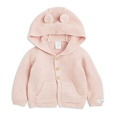 Hooded Cardigan  Pink