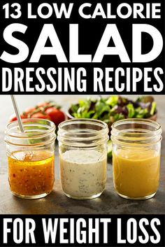 Gesundes Salatdressing: 13 köstliche kalorienarme Rezepte Healthy salad dressing: 13 delicious low-calorie recipes, calories dressing recipes for weight loss Low Calorie Salad, Healthy Low Calorie Meals, No Calorie Foods, Low Calorie Recipes, Healthy Salads, Healthy Drinks, Healthy Recipes, Healthy Salad Dressings, Low Calorie Sauces