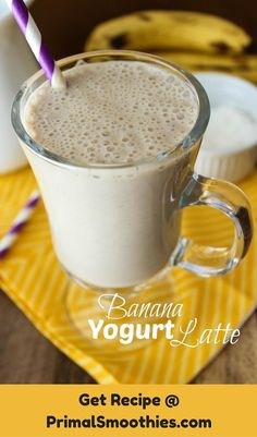 You will get a smooth and thin texture with a touch of froth from this smoothie. There is an equal blend of banana, yogurt and coffee.
