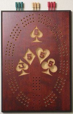 The Perfect hand Cribbage Board by Verticalchessandmore on Etsy, $25.00