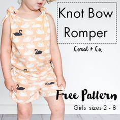 Knot Bow Romper Free Pattern and Fabricworm Giveaway!