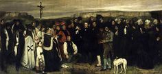 Gustave Courbet, FUNERALE A ORNANS, 1850, 3,2 m x 6,6 m, Colore ad olio, Musée d'Orsay
