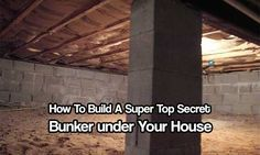 Build a Super Top Secret Bunker under Your House. Can't afford a regular bunker? Build a secret one under your own house for half the price of a regular one #bunkerplans