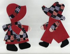 sunbonnet sue and sam in red patchwork