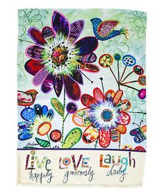 Look what I found on #zulily! 'Live Love Laugh' Greeting Card & Outdoor Flag Set #zulilyfinds