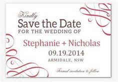save the date for the wedding of katherine