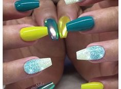 Blue Nails by MargaritasNailz