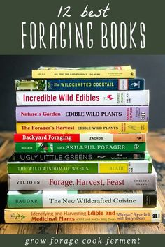Here are the 12 best books on foraging and wildcrafting. These books will give you a great start on how to find, identify, harvest, and use wild plants! Reading Lists, Book Lists, Lemon Beer, Good Books, Books To Read, Edible Wild Plants, Wild Edibles, Garden Types, Writing Styles