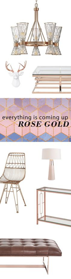 This year's hottest color has proven it's here to stay, so show it off with a little something that's larger than a bracelet. Our selection of furniture, accents and décor in rose gold is larger than ever. Visit AllModern today and sign up for exclusive access to deals for your modern home. Free shipping on orders over $49!