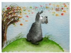 A personal favorite from my Etsy shop https://www.etsy.com/listing/225163688/scottie-dog-windy-day-art-print-scottish