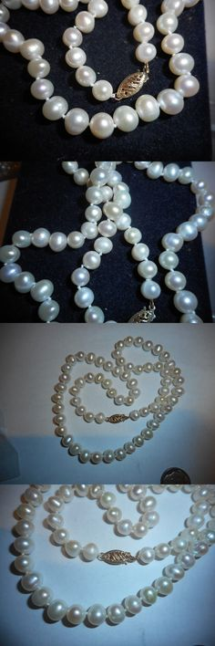Necklaces and Pendants 165042: 14K Gold 6Mm White Cultured Pearl 18 Necklace Vintage Mint -> BUY IT NOW ONLY: $59.99 on eBay!
