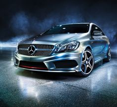 """The new A-Class. Fuel consumption (combined): 6.4-3.8 l/100 km; CO2 emissions (combined): 148-98 g/km. The data do not relate to an individual vehicle and do not form part of the offer; they are provided solely for the purposes of comparison between different types of vehicles. The figures are provided in accordance with the German regulation """"PKW-EnVKV"""" and apply to the German market only.    For more information on the new A-Class visit http://a-class.mercedes-benz.com/"""