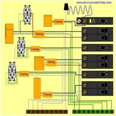 wiring diagram for a 50 amp, 240 volt circuit breaker electrical Meter to Breaker Box Wiring wiring diagram for a circuit breaker box home electrical wiring, man cave office, breaker
