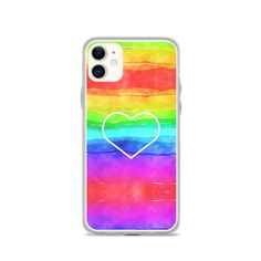 Excited to share the latest addition to my #etsy shop: Rainbow heart - iPhone Case Rainbow Heart, Cute Tshirts, Lgbt, Graphic Tees, Iphone Cases, Etsy Shop, Gift Ideas, Abstract, Hats