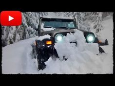 ► Jeep Wrangler в глубоком Снегу [Snow Off-Road 4x4] - YouTube
