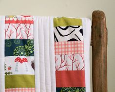 Organic+Baby+Quilt+Peaches+and+Green+MADE+by+organicquiltcompany,+$265.00