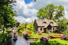 Holanda tem cidade onde canais substituem as ruas