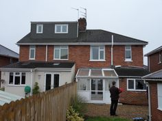 1930′s Semi Detached House – hip to brick gable with flat roof dormer