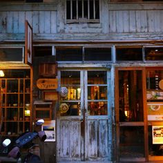 Tainan the historical city in Taiwan :) Outside is old building inside is a trendy cafe ;) how cool !!