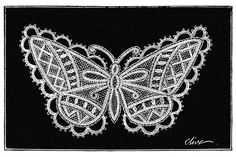 Lace design based on the shape and aspect of the emperor butterfly (Apatura iris) Cc Images, Clark Art, Butterfly Fairy, Lace Making, Old Books, Doodle Drawings, Lace Design, Emperor, Book Illustrations