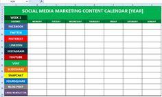 what is a marketing calendar Social Media Content Calendar Template Excel Social Media Report, Social Media Posting Schedule, Social Media Marketing Business, Social Media Content, Business Entrepreneur, Plan Marketing, Marketing Plan Template, Marketing Calendar, Marketing Strategies