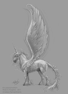 Pegasus by Andrea Femerstrand http://cagedcanarynz.blogspot.com/