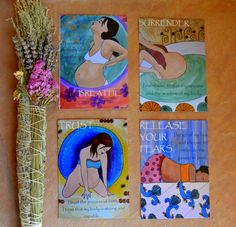 birth affirmation cards birth art - I love these and they remind me of you <3